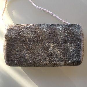 La Regale Bags - Vintage La Regale Silver Beaded Purse